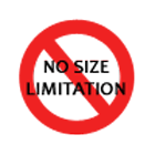 no size limitation