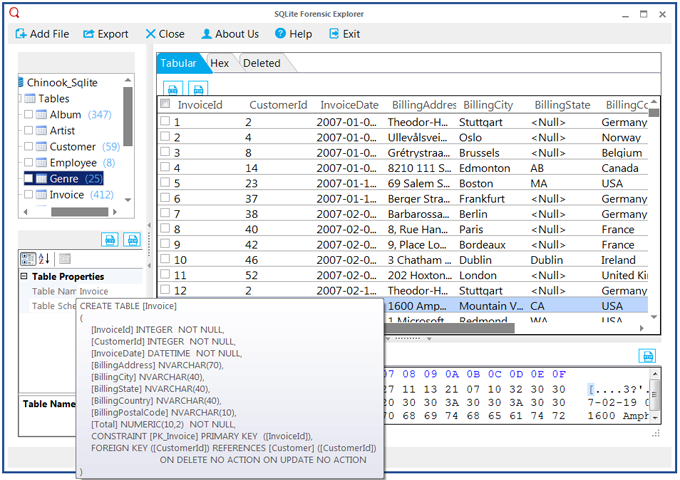 Free Sqlite Viewer To Preview Sqlite Database Files